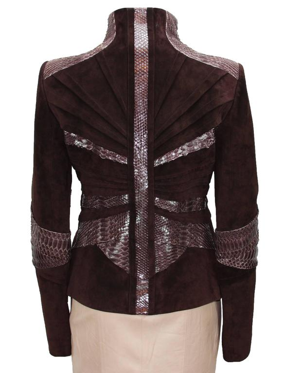 TOM FORD for GUCCI F/W 2004 PYTHON SUEDE LEATHER JACKET IT.42 4