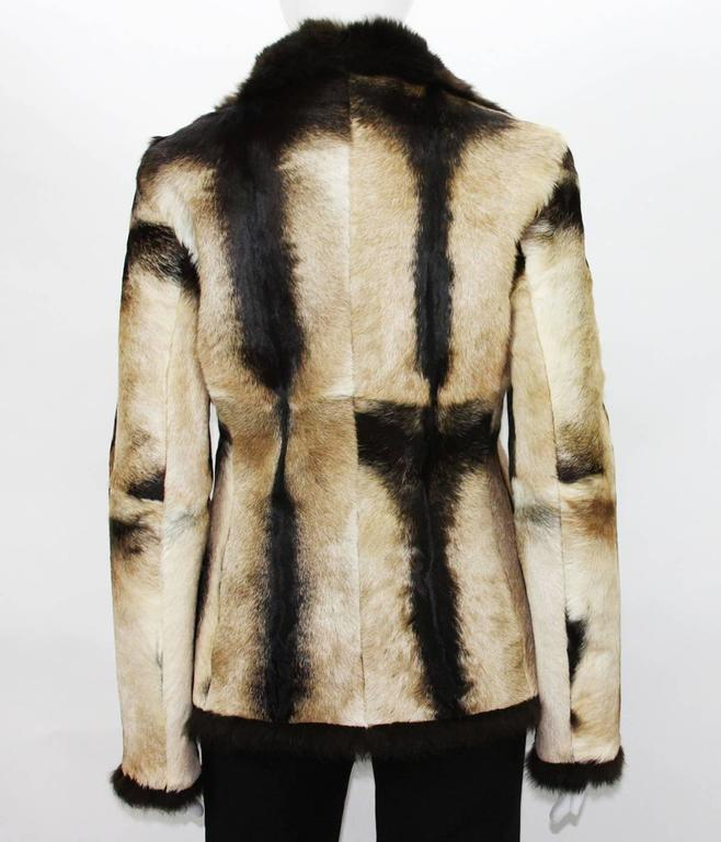 New Tom Ford for Gucci 1999 Collection Reversible Beige Fur Jacket It. 40 4