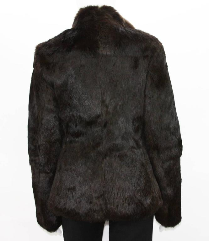 New Tom Ford for Gucci 1999 Collection Reversible Beige Fur Jacket It. 40 6