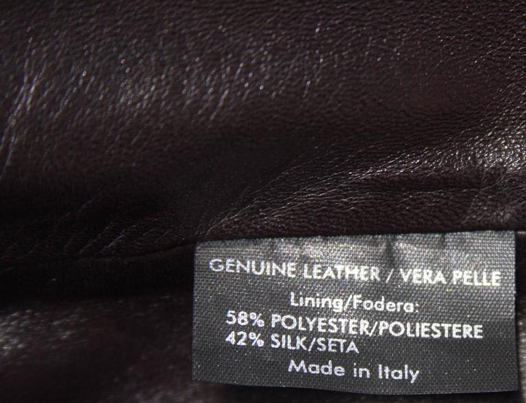 TOM FORD for GUCCI F/W 2003 Brown Super Soft Leather Jacket It 40 - US 4 For Sale 2