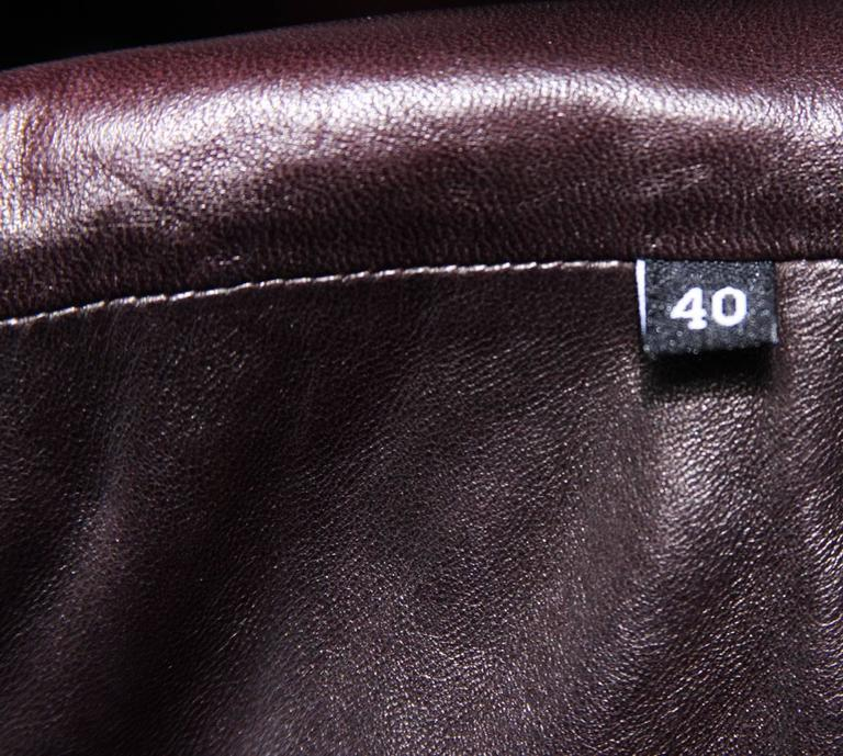TOM FORD for GUCCI F/W 2003 Brown Super Soft Leather Jacket It 40 - US 4 For Sale 3