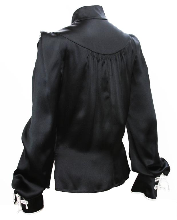 Women's Rare Tom Ford for Yves Saint Laurent F/W 2004 Chinese Inspired Blouse Fr.38 For Sale
