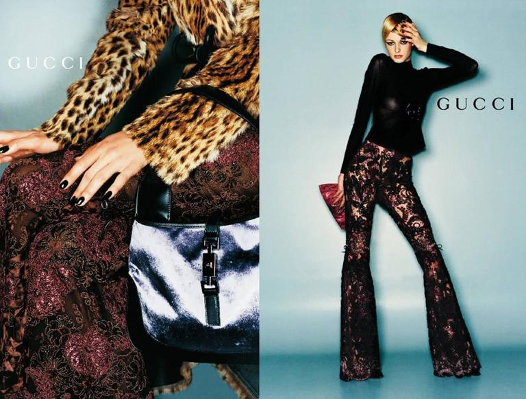 0c5cfe51faff Highly Collectible Lace Flared Pants by Tom Ford for Gucci. Campaign F W  1999