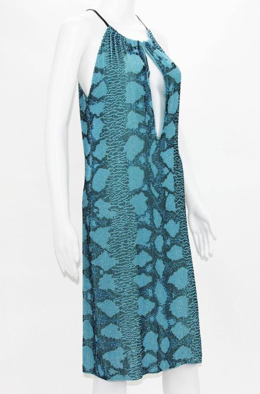 596772e1ee0 Collectible Campaign Tom Ford for Gucci Fully Beaded Cocktail Dress. S S  2000 Collection