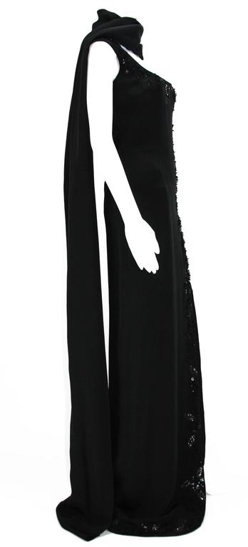 Women's New $7500 L'WREN SCOTT S/S 2010 Represent Her *MADAME DU BARRY* Black Dress Gown For Sale