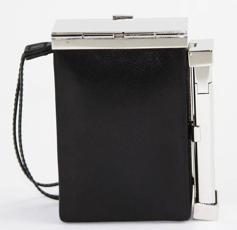Black New Tom Ford For Yves Saint Laurent S 2001 Leather Cigarette Case And