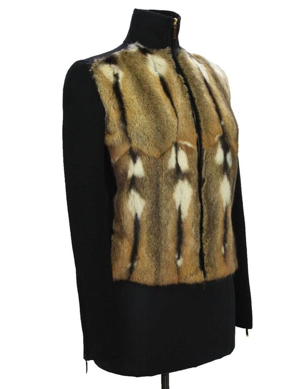 TOM FORD for GUCCI New Hamster Fur Wool Silk Cashmere Cardigan Sweater Jacket S 2