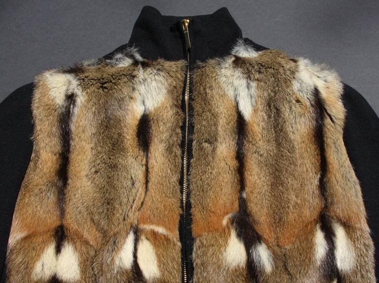 TOM FORD for GUCCI New Hamster Fur Wool Silk Cashmere Cardigan Sweater Jacket S 6