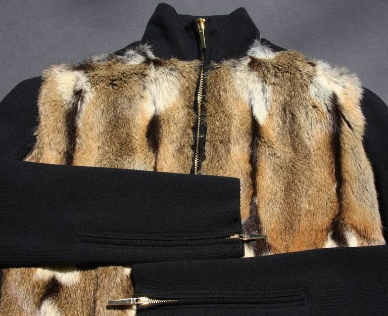 TOM FORD for GUCCI New Hamster Fur Wool Silk Cashmere Cardigan Sweater Jacket S 7