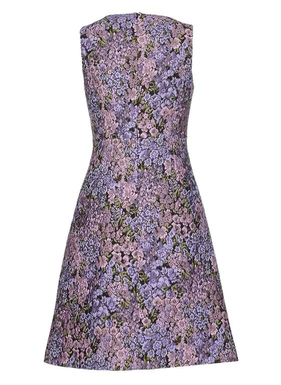 New MICHAEL KORS Jacquard Lilac Floral Design Dress size 12 2