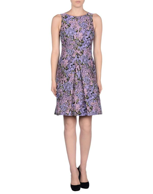New MICHAEL KORS Jacquard Lilac Floral Design Dress size 12 3
