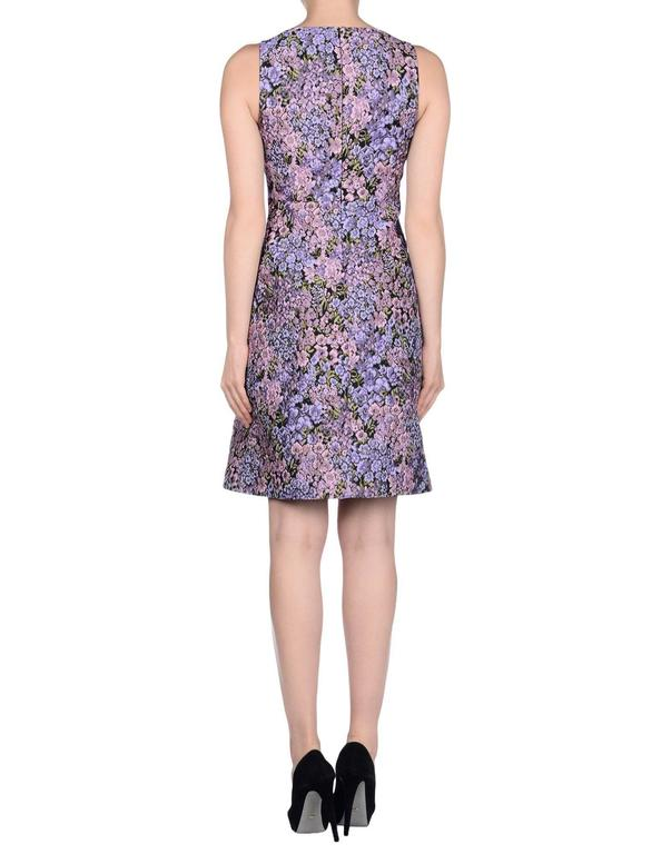 New MICHAEL KORS Jacquard Lilac Floral Design Dress size 12 4