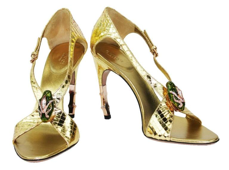 Gucci Shoes With Bamboo Heel