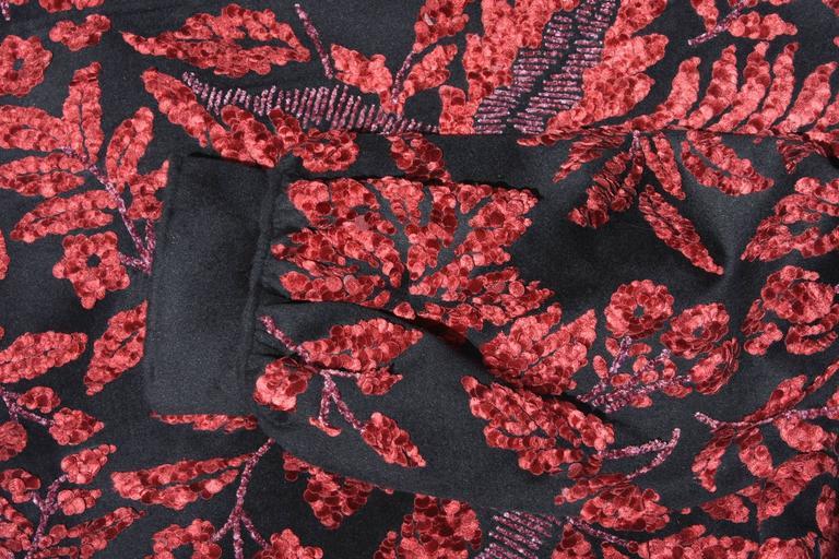 Oscar de la Renta Runway F/W 2006 Collection Fur Wool Coat size 6 6
