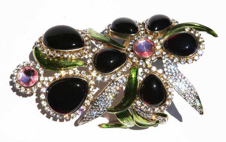 New Tom Ford for Yves Saint Laurent S/S 2004 Crystal Wide Bracelet and Clutch  3