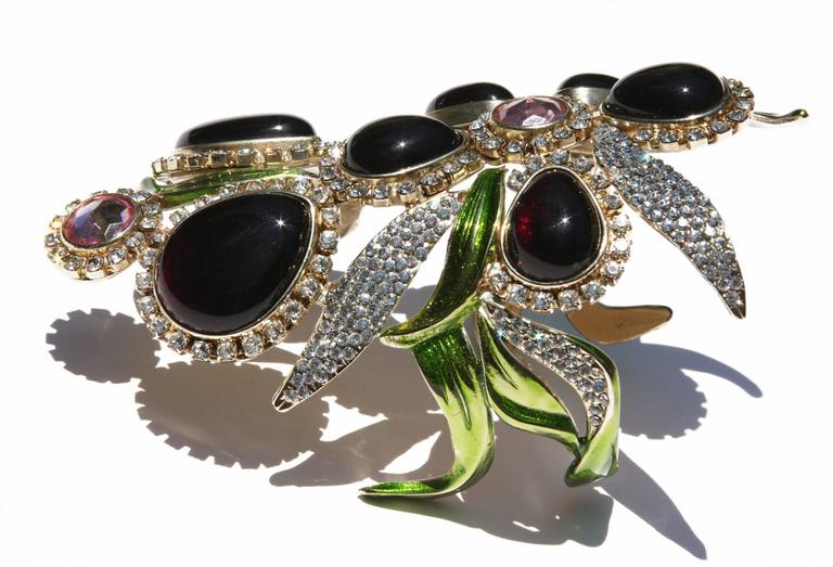 New Tom Ford for Yves Saint Laurent S/S 2004 Crystal Wide Bracelet and Clutch  4