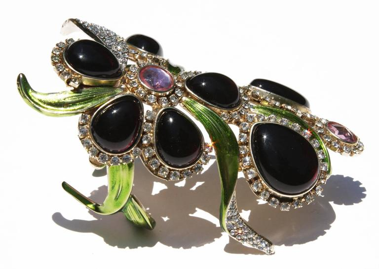 New Tom Ford for Yves Saint Laurent S/S 2004 Crystal Wide Bracelet and Clutch  6