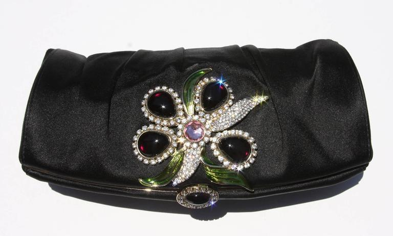 New Tom Ford for Yves Saint Laurent S/S 2004 Crystal Wide Bracelet and Clutch  9