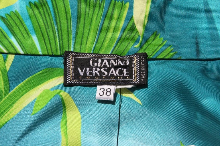 Iconic Gianni Versace Couture S/S 2000 Jungle Print Silk Embellished Dress It.38 4