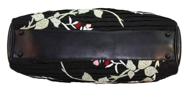 TOM FORD for GUCCI BLACK SILK FRAME JAPANESE FLOWERS BAG 5
