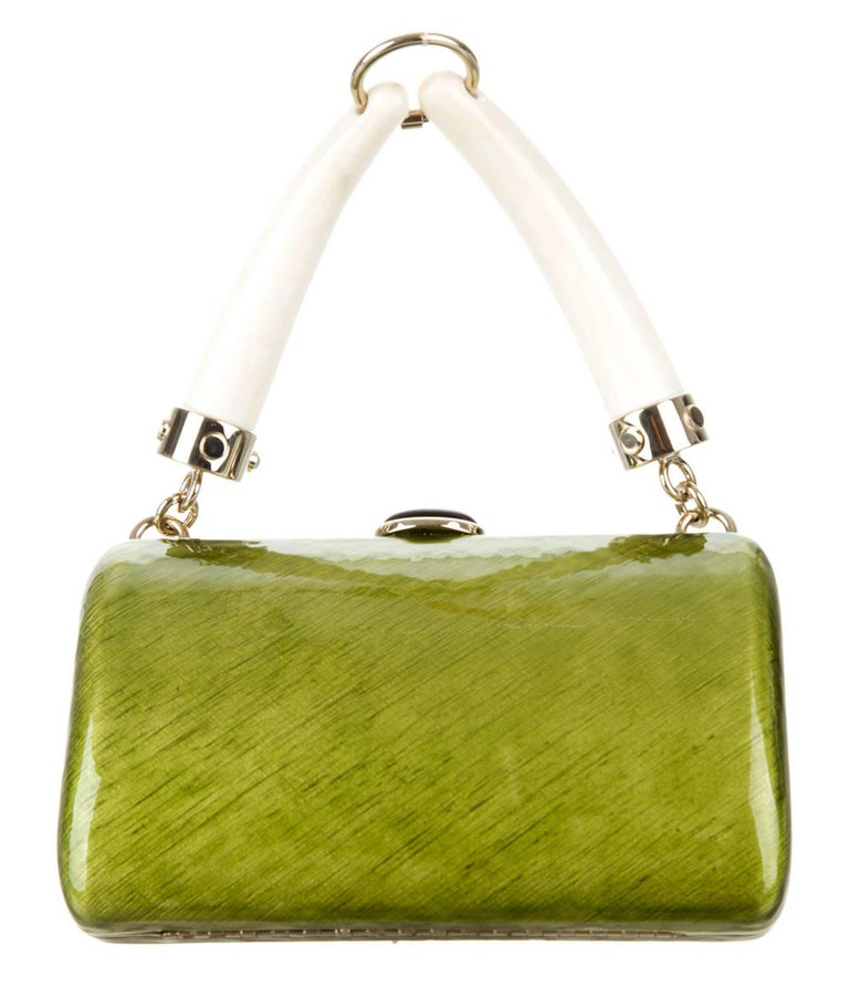 Tom Ford for Yves Saint Laurent Rive Gauche S/S 2004 Enamel Jeweled Clutch Bag For Sale 1