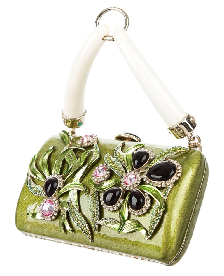 Tom Ford for Yves Saint Laurent Rive Gauche S/S 2004 Enamel Jeweled Clutch Bag For Sale 2