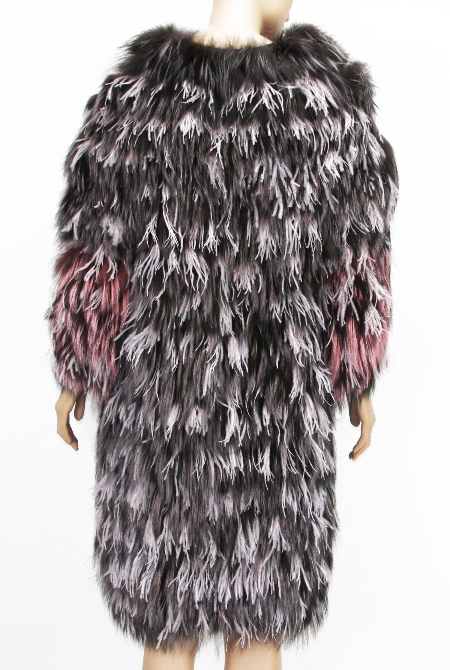 d131f617cec Exotic Oscar de la Renta Ostrich Feathers and Fox Fur Evening Coat Jacket  For Sale at 1stdibs