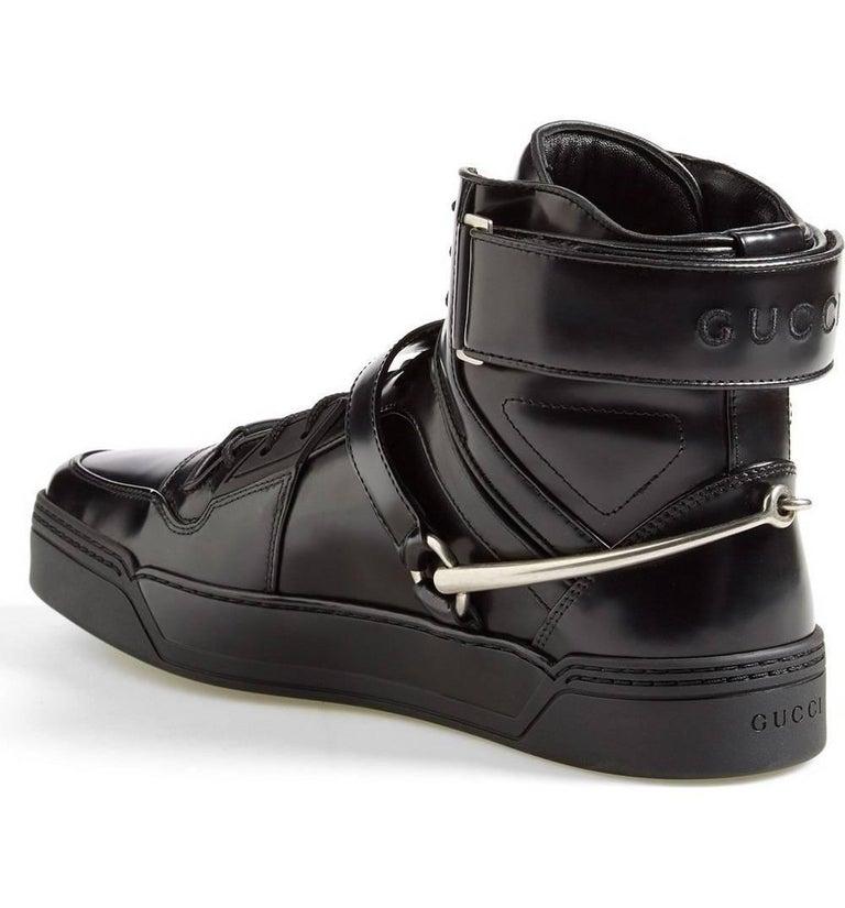 2b8d266dc97 New Gucci Men s Black Basket Darko High-Top Sneaker Gucci sizes 8.5 ...