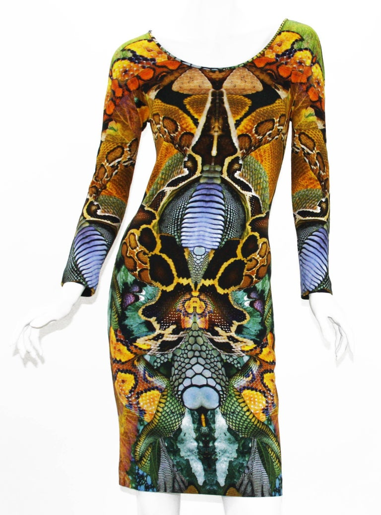 New Alexander McQueen Collectible Stretch Dress S/S 2010 Collection Designer size 42 - US 6 Very Stretchy and Soft, Back Zip Closure. Made in Italy New without tag.  Plato's Atlantis Spring/Summer fashion collection by Alexander McQueen  The Plato's