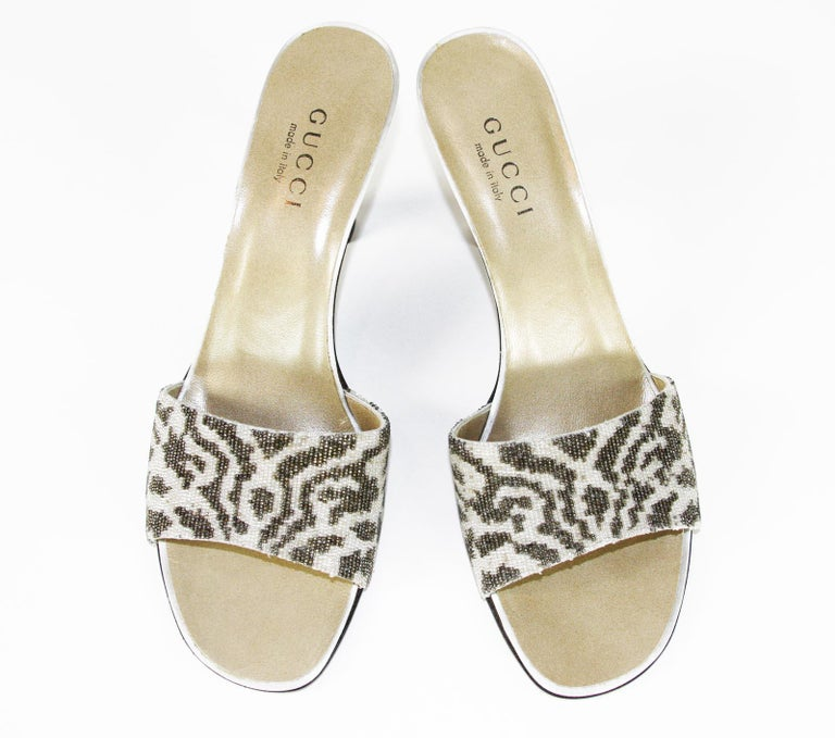 7b4f919a3a1 Vintage Gucci by Tom Ford Beaded Shoes Slides Vintage Back to 90 s Designer  size 9 B