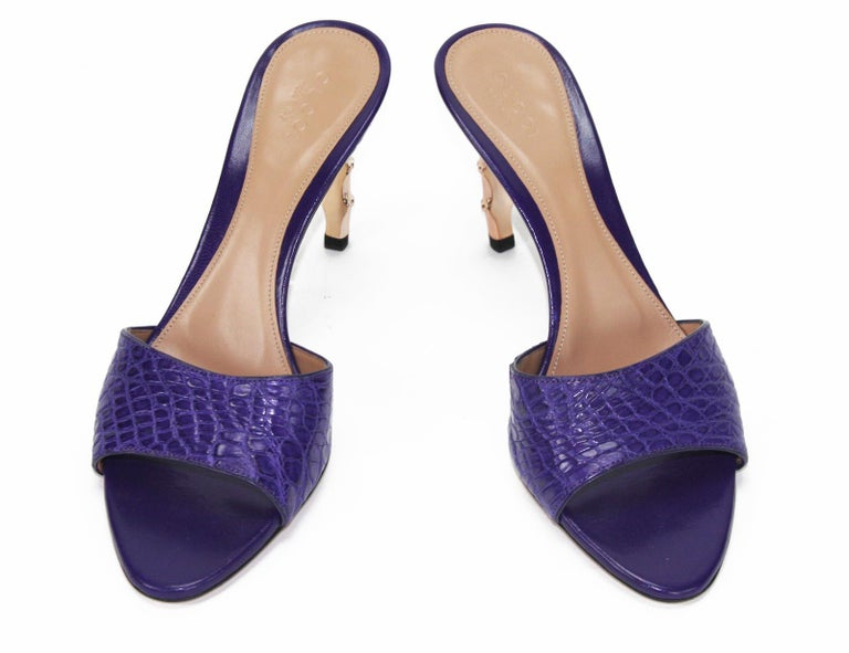b32a0380c Tom Ford for Gucci Crocodile Purple Shoes S S 2004 Collection Designer size  6 B