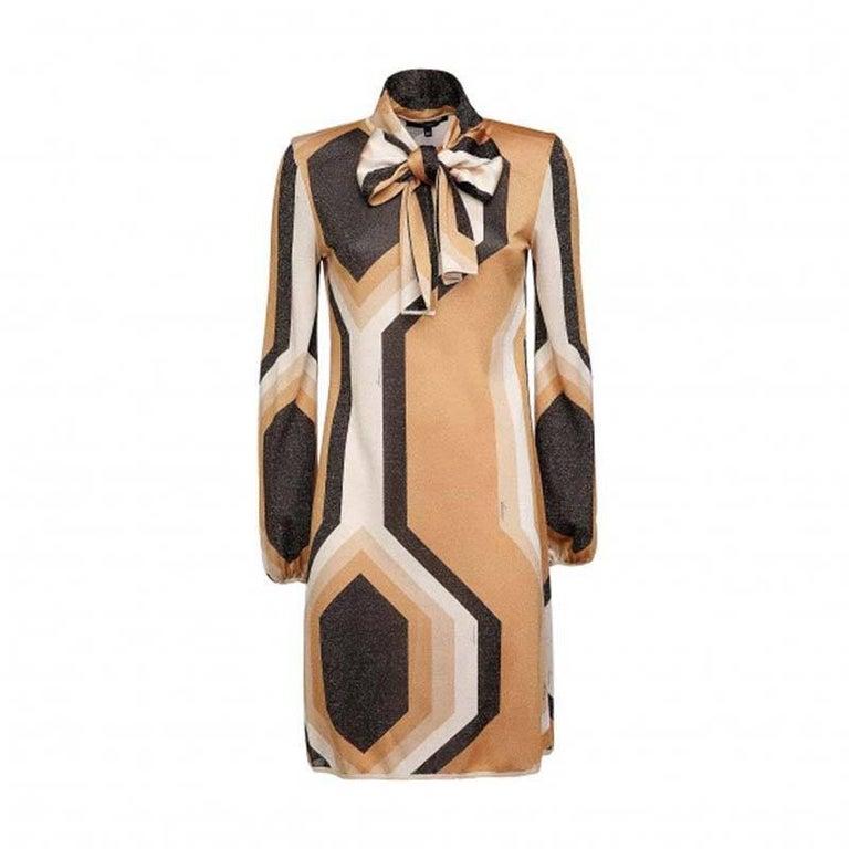 Beige Tom Ford for Gucci Kaleidoscope Metallic Dress, F / W 2000  For Sale