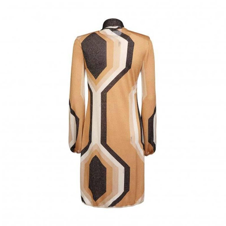Tom Ford for Gucci Kaleidoscope Metallic Dress, F / W 2000  In Excellent Condition For Sale In Montgomery, TX