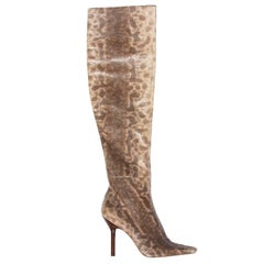New Tom Ford for Gucci Water Snake Over Knee Boots, 1999 Collection 38 - US 8