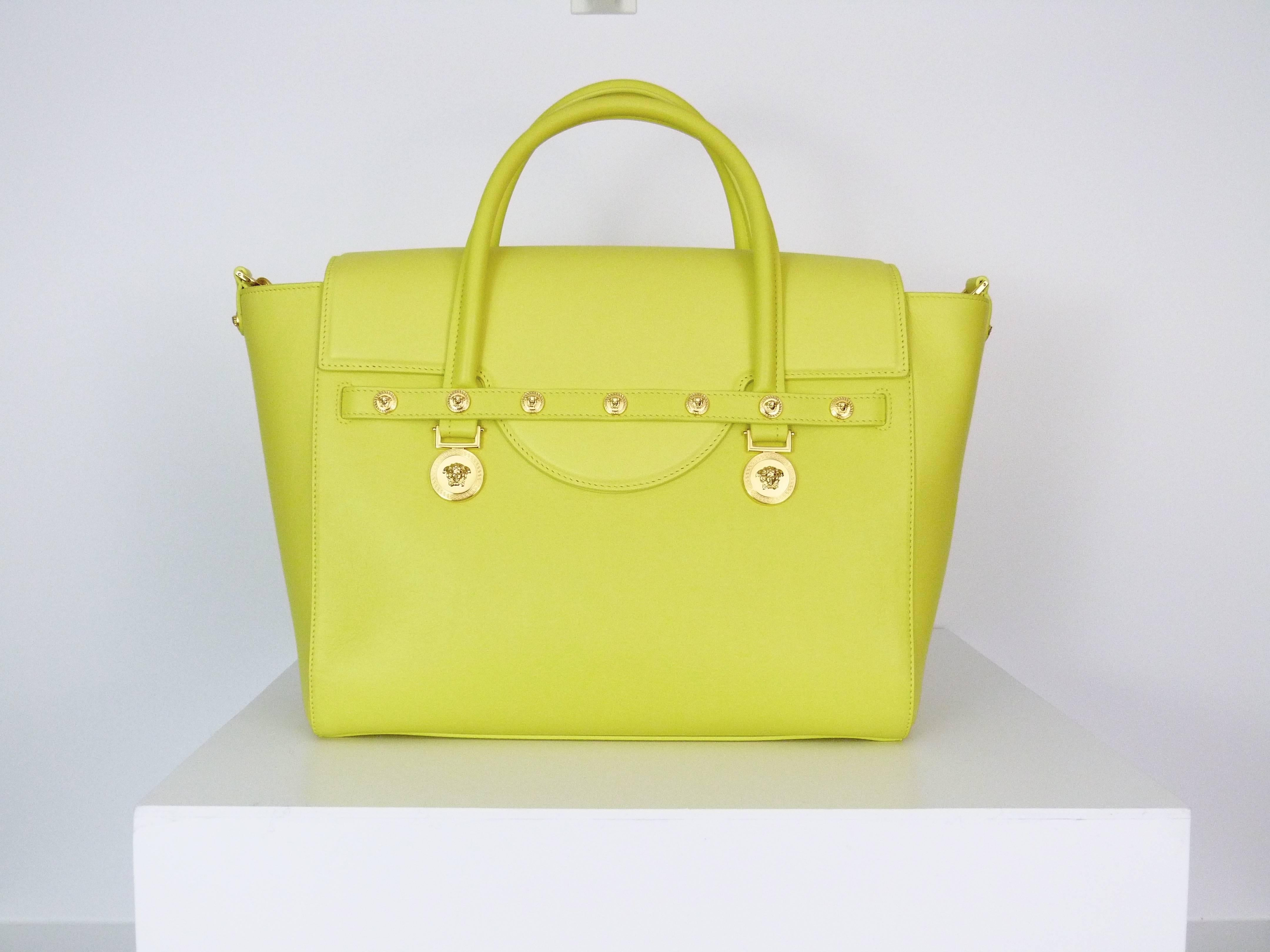 Versace Signature yellow large leather bag, 2015 at 1stdibs bc736c2c09