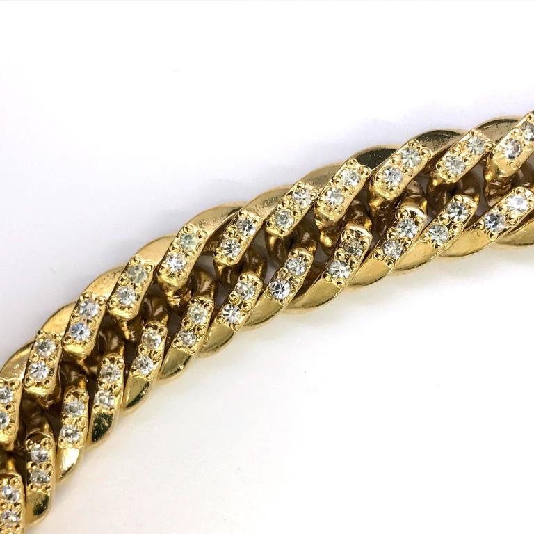 Women's 1990s Gianni Versace curb chain medusa head belt with rhinestones  For Sale
