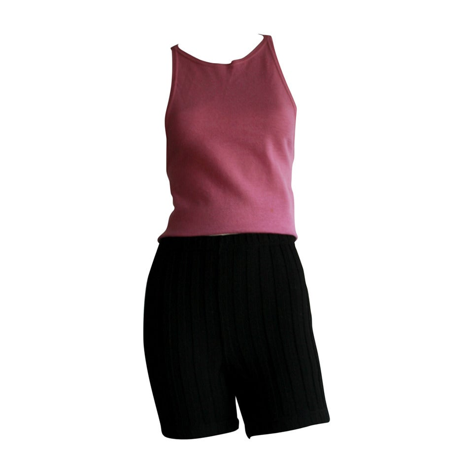 Iconic 1960s Rudi Gernreich For Harmon Knits Shorts and Top Ensemble