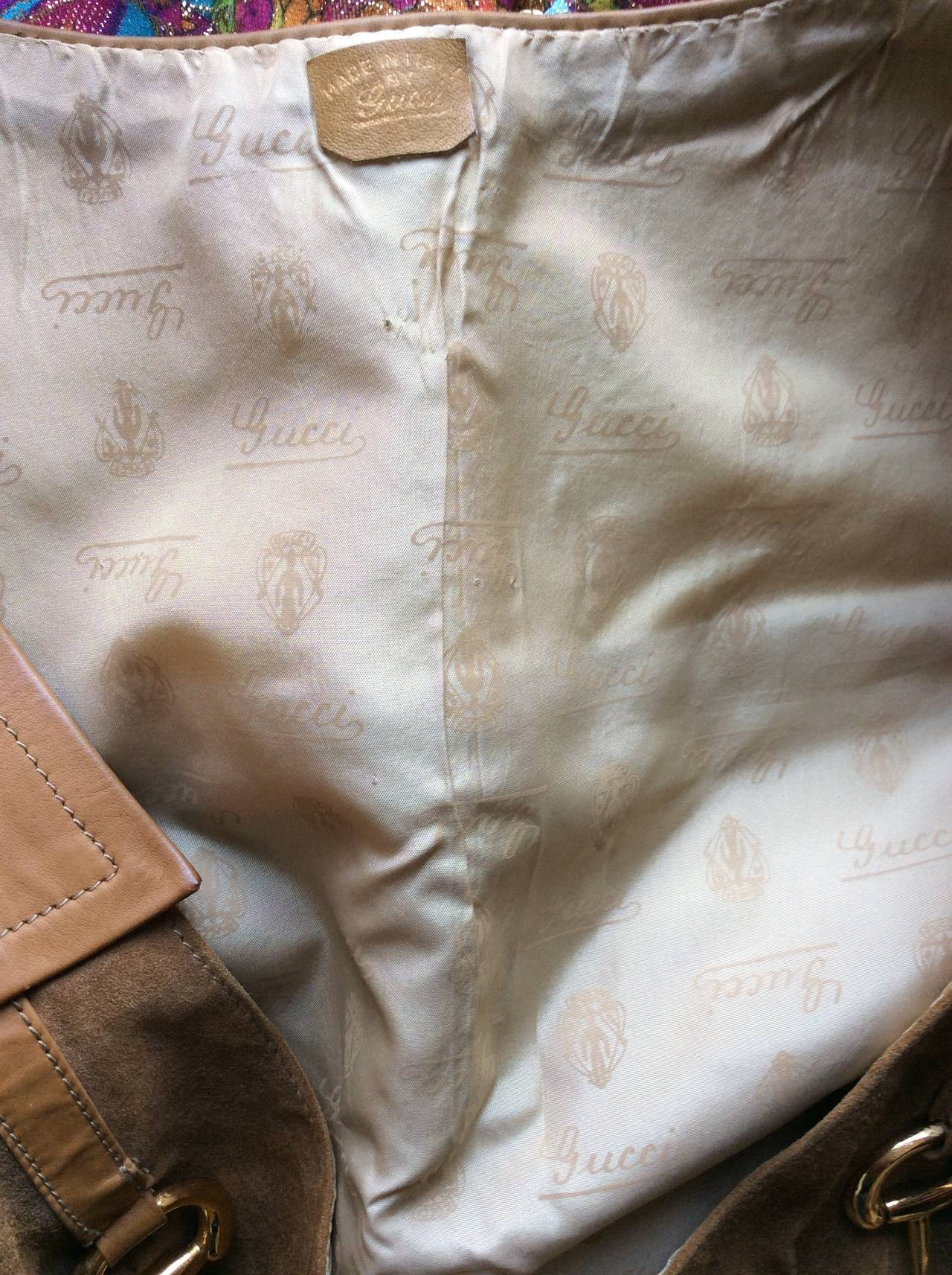 Rare Vintage 1960s Gucci Tan Leather Horsebit A - Line Space Age Dress 7