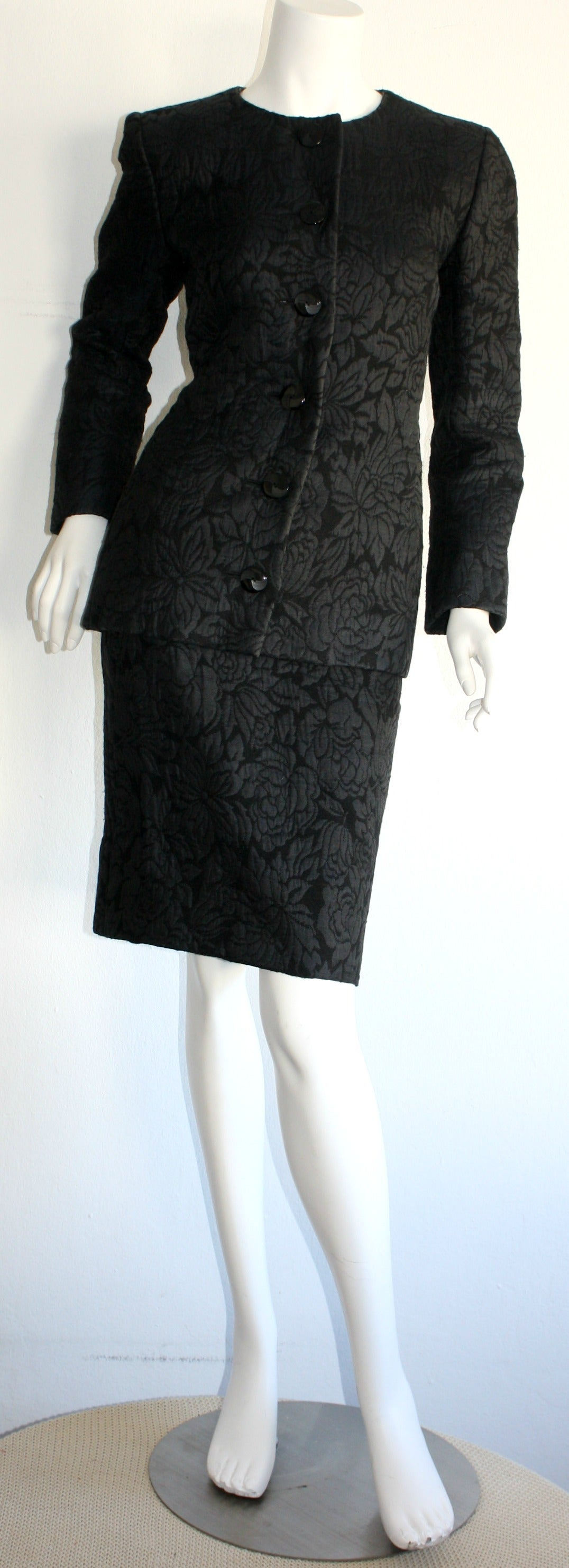 vintage yves saint laurent haute couture numbered skirt suit stunning for sale at 1stdibs. Black Bedroom Furniture Sets. Home Design Ideas