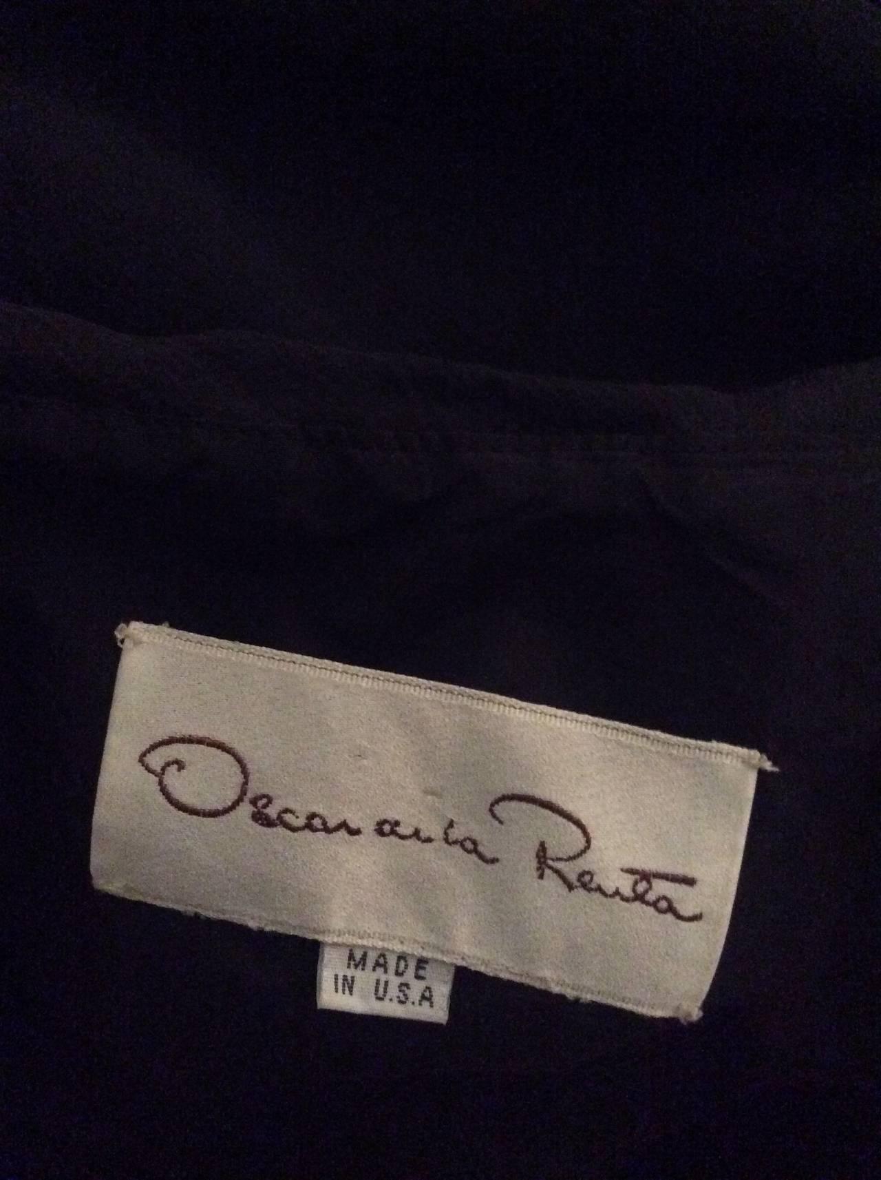 Remarkable Vintage Oscar de la Renta Black Velvet & Chiffon Grecian Gown 8