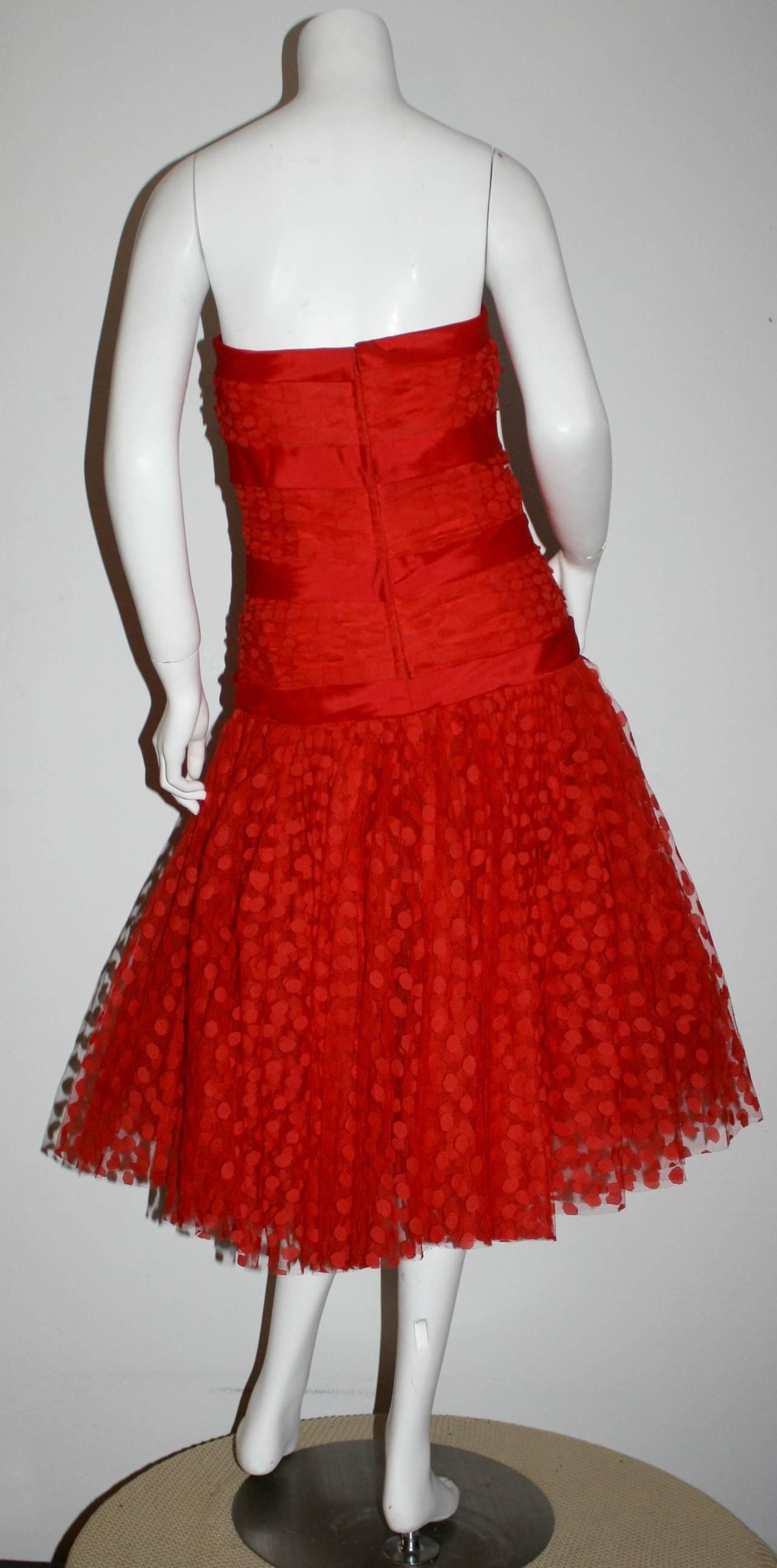 Incredible Vintage Jill Richards for Elizabeth Arden Red Valentine's Day Dress 7
