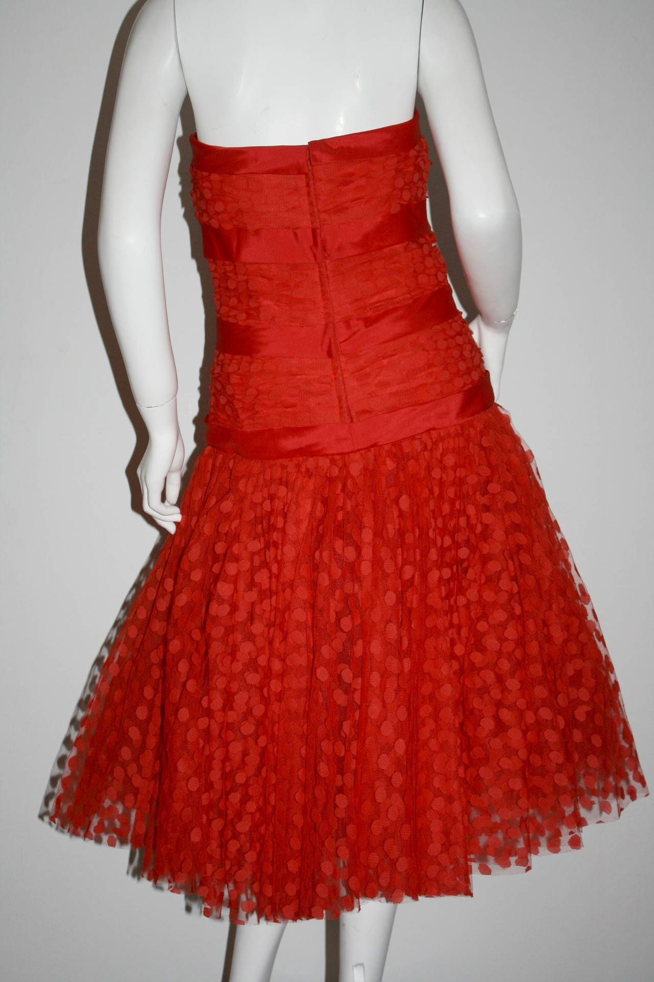 Incredible Vintage Jill Richards for Elizabeth Arden Red Valentine's Day Dress 5