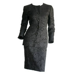 Vintage Yves Saint Laurent Haute Couture Numbered Skirt Suit - Stunning!