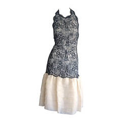 Beautiful Vintage Mary McFadden Couture Numbered French Lace Dress