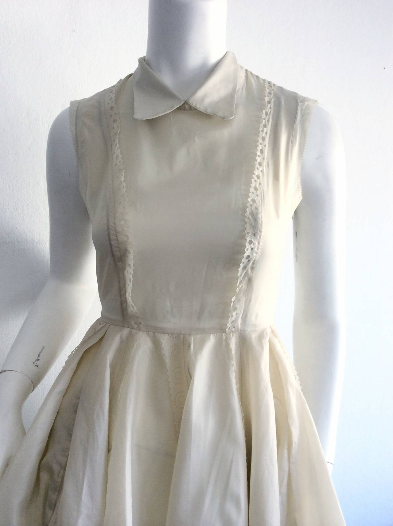 Adorable Kenzo Ivory Eyelet Dress Brand New 2