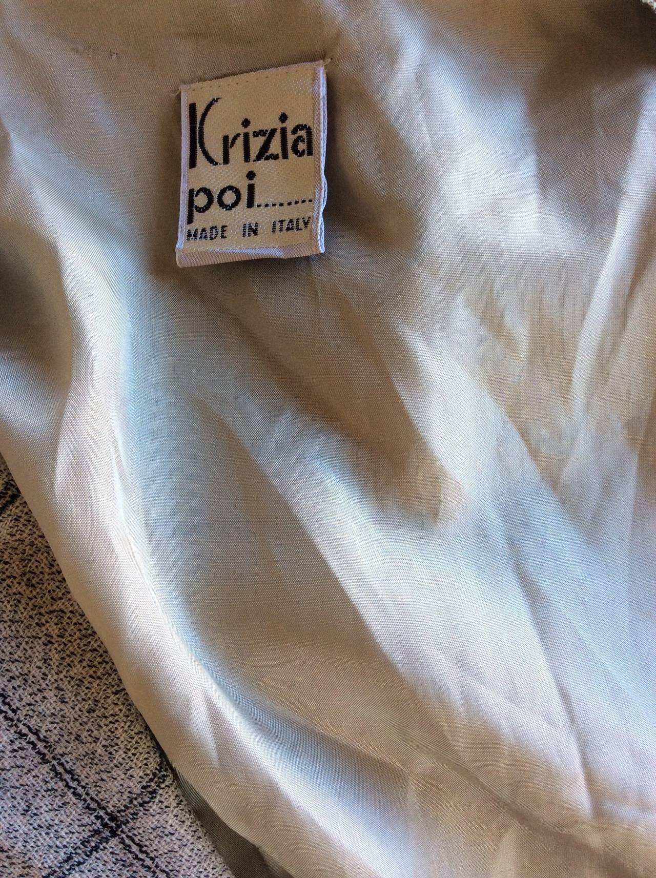 Vintage Krizia Wool Windowpane Slouchy Boyfriend Blazer 8