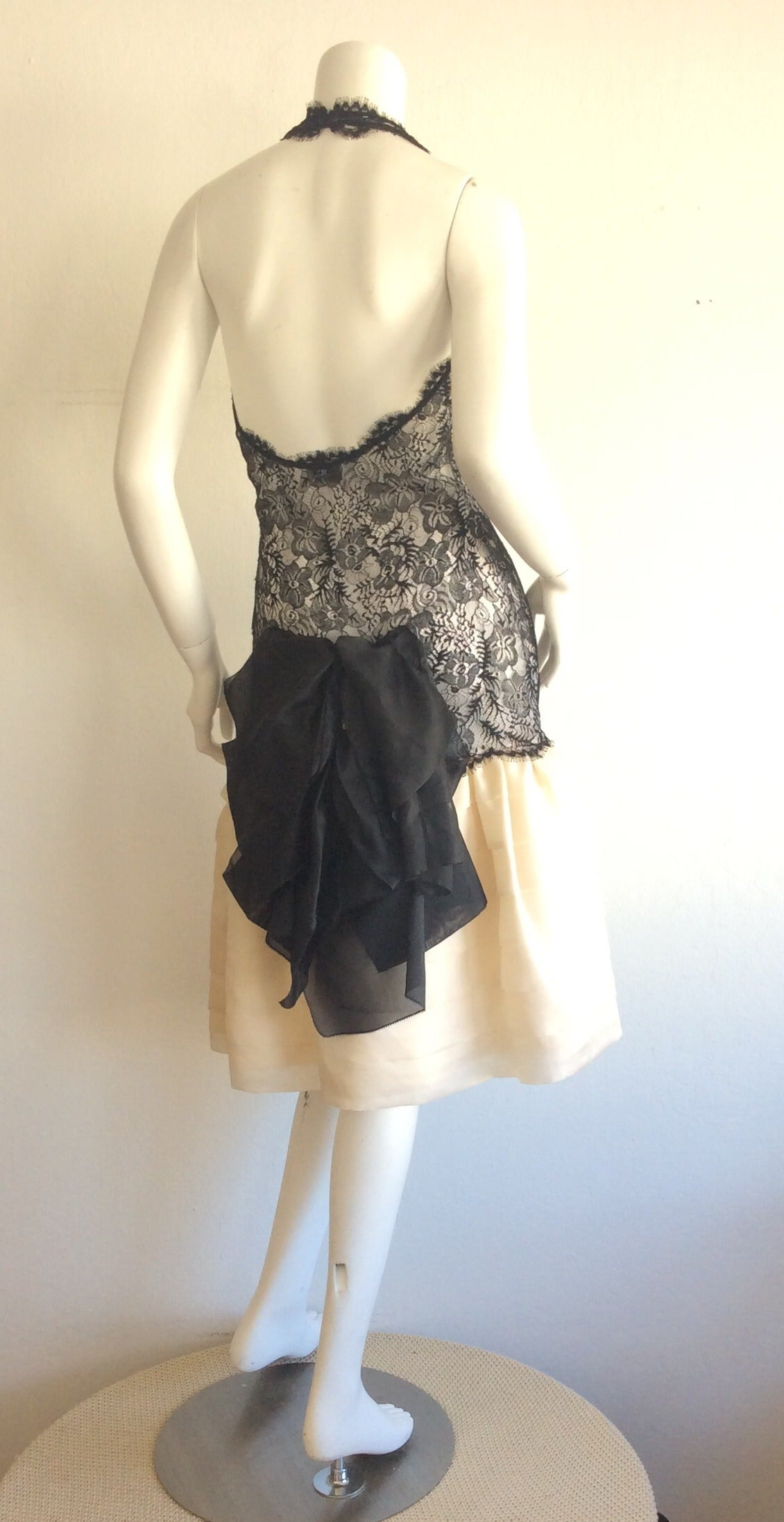 Beautiful Vintage Mary McFadden Couture Numbered French Lace Dress For Sale 1