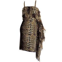 """Rare 1990s Vintage Jean Paul Gaultier """" Tarzan & Jane """" Leopard Dress"""