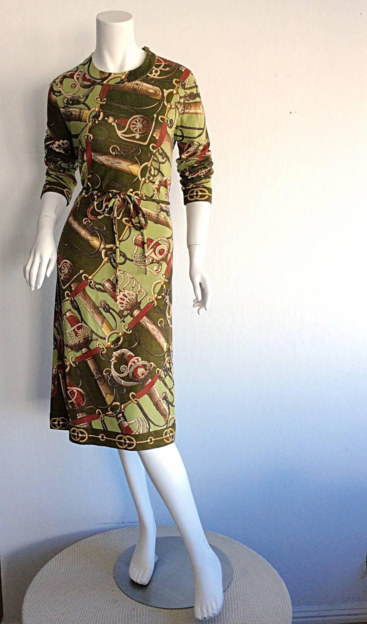 Incredible Vintage Hermes Sweater Dress And Belt At 1stdibs