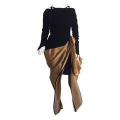 Incredible Vintage Paul Louis Orrier Avant Garde Bustle Gown
